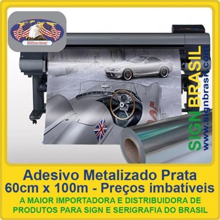 Adesivo Prata Metalizado