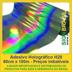 Adesivo Holográfico H20 - 0,60m x 100m