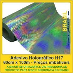 Adesivo Holográfico H17 - 0,60m x 100m