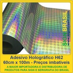 Adesivo Holográfico H62 - 0,60m x 100m