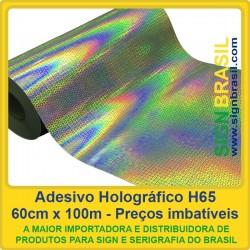 Adesivo Holográfico H65 - 0,60m x 100m