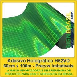 Adesivo holográfico H62VD - Verde - 0,60m x 100m