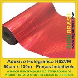 Adesivo holográfico H62VM - Vermelho - 0,60m x 100m