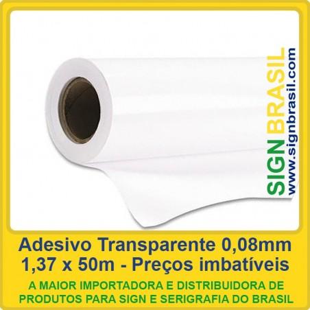 Adesivo Transparente 0,08mm - 1,37m x 50m