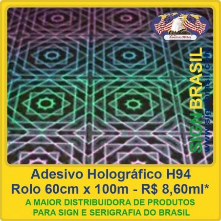 Adesivo Holográfico H94 - 0,60m x 100m