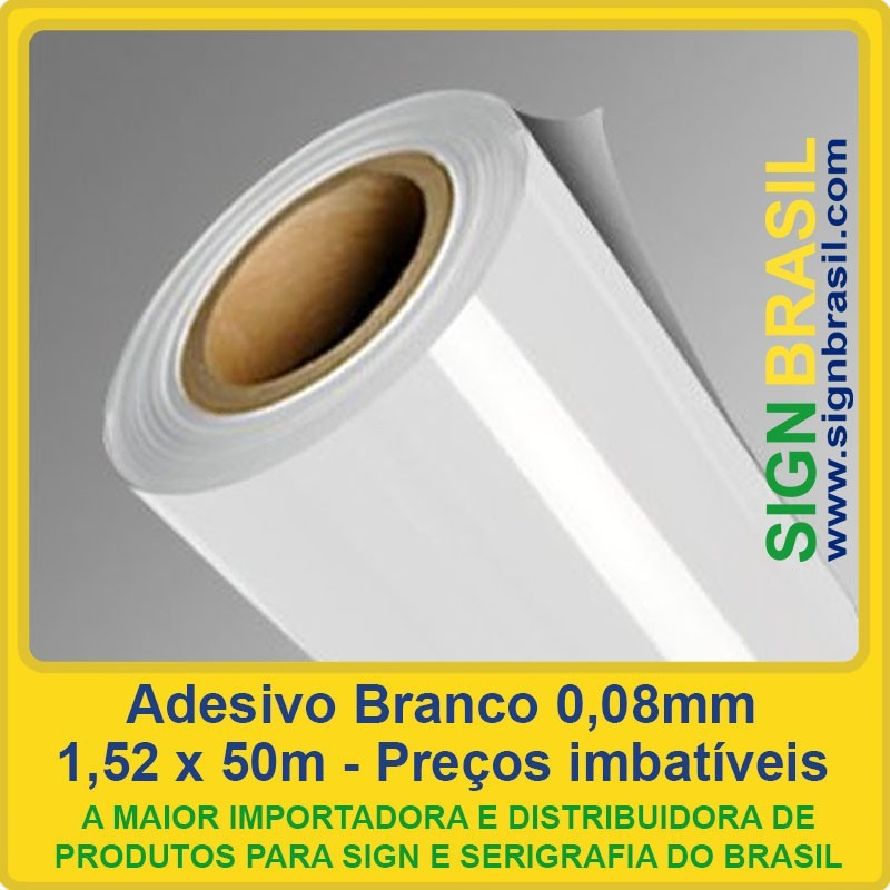 Adesivo Branco 0,08