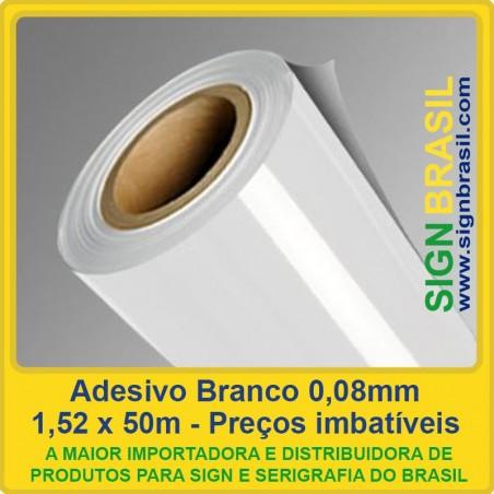 Adesivo Branco 0,08mm - 1,52m x 50m