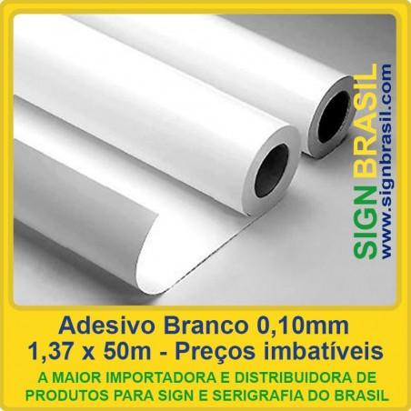 Adesivo Branco 0,10mm - 1,37m x 50m
