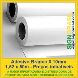Adesivo Branco 0,10mm - 1,52m x 50m