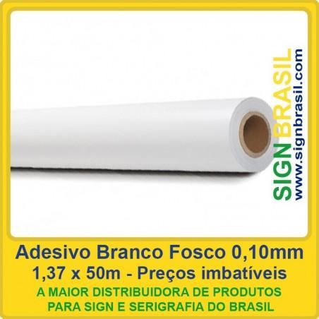 Adesivo Branco Fosco 0,10mm - 1,37m x 50m