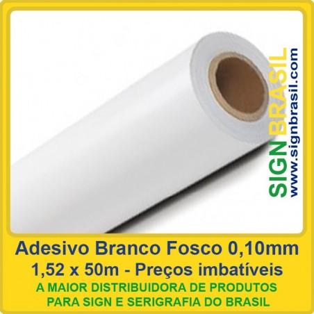 Adesivo Branco Fosco 0,10mm - 1,52m x 50m