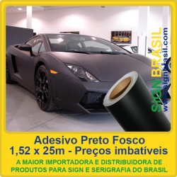 Adesivo Preto Fosco - 1,52m