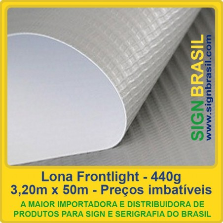 Lona Frontlight 440g para impressão digital - 3,20m