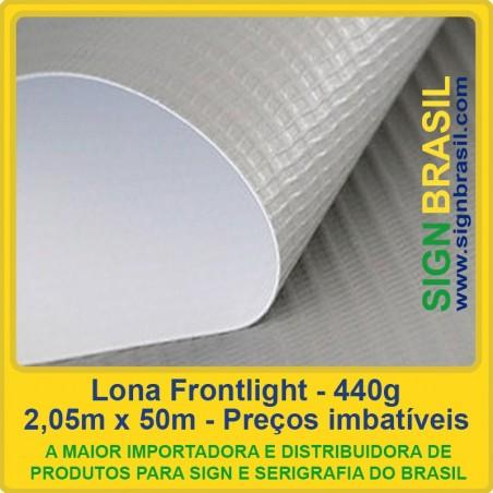 Lona Frontlight 440g para impressão digital - 2,05m