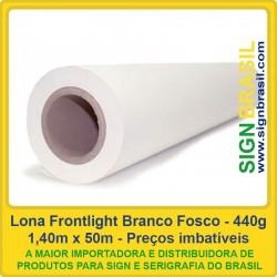 Lona Frontlight Fosca 440gr para impressão digital - 1,40m