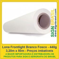 Lona Frontlight Fosca 440gr para impressão digital - 3,20m