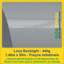 Lona Backlight 440g para impressão digital - 1,40m