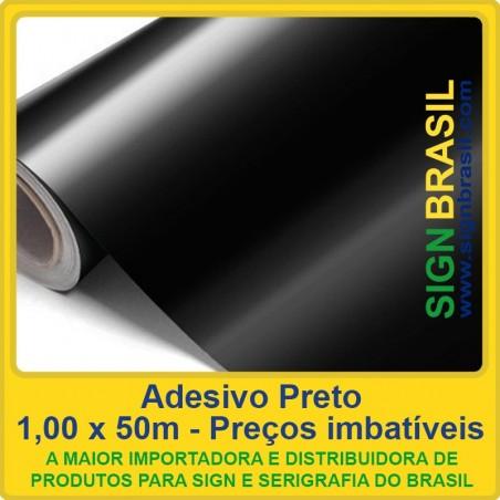 Adesivo Preto 0,08mm - 1,52m x 25m