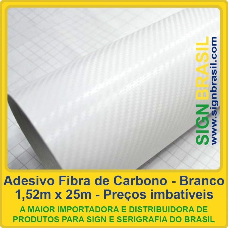 Adesivo Fibra de Carbono Branco