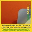 Adesivo refletivo PET - Laranja