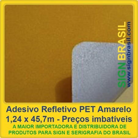 Adesivo refletivo PET - Amarelo