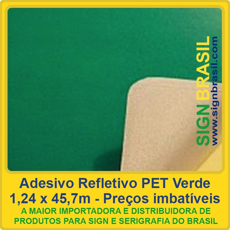 Adesivo refletivo PET - Verde