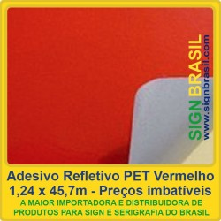 Adesivo refletivo PET - Vermelho