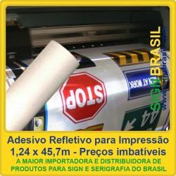 Adesivo refletivo Branco - impressão digital