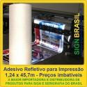 Adesivo refletivo para impressão digital