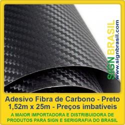Fibra de Carbono Preto - adesivo