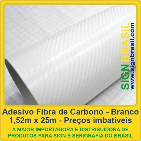 Fibra de Carbono Branco - adesivo