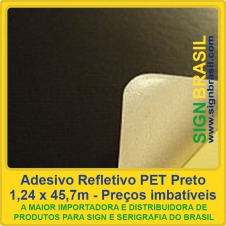 Adesivo refletivo Preto - para recorte