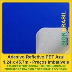 Adesivo refletivo Azul - para recorte