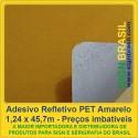Adesivo refletivo Amarelo - para recorte