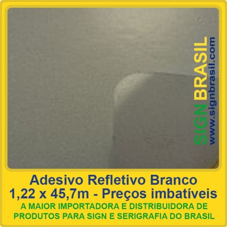 Adesivo refletivo Branco - serigrafia