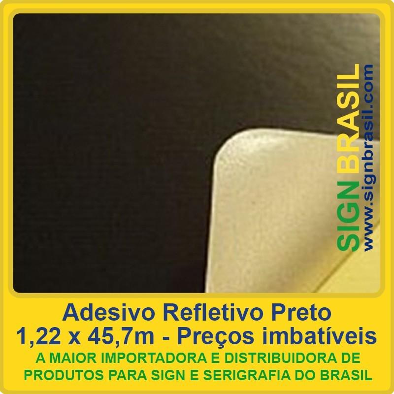 Adesivo refletivo Preto para serigrafia