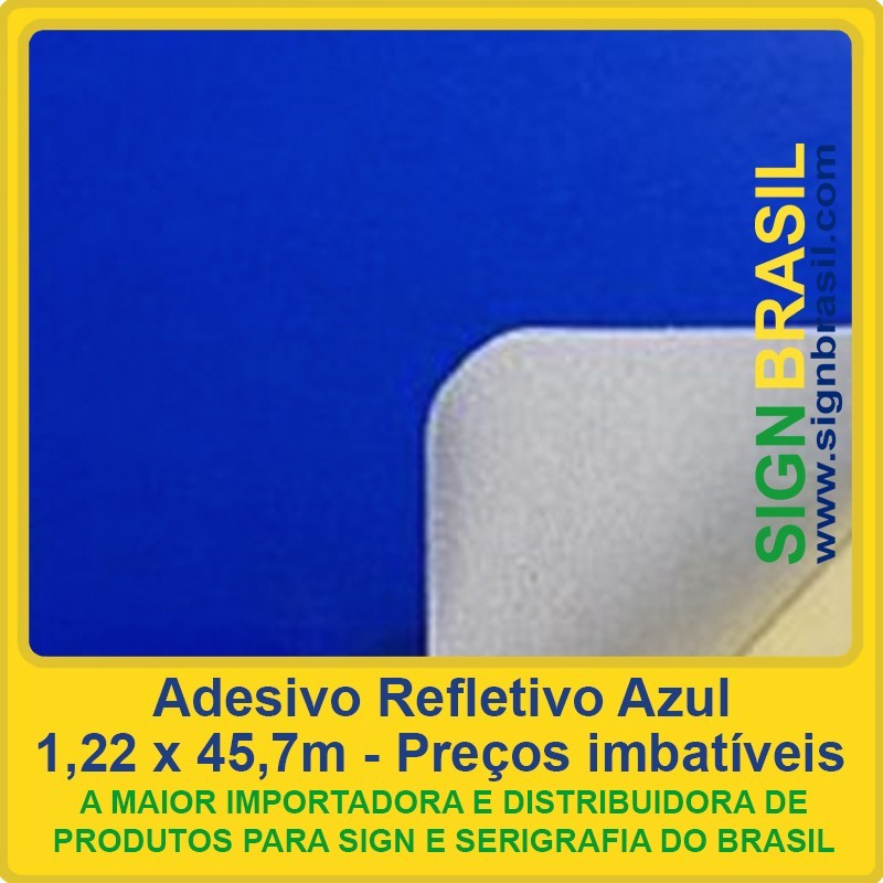 Adesivo refletivo Azul para serigrafia