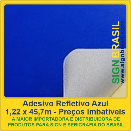 Adesivo refletivo Azul - para serigrafia