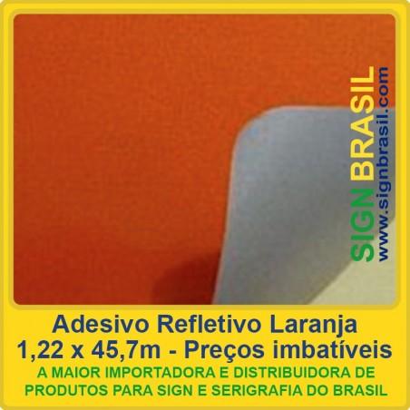 Adesivo refletivo Laranja - para serigrafia