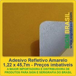Adesivo refletivo Amarelo - para serigrafia