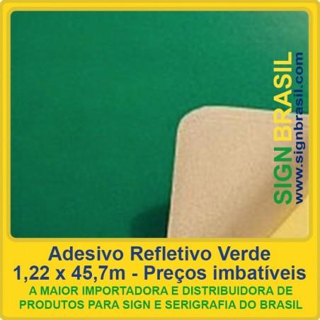 Adesivo refletivo Verde - para serigrafia
