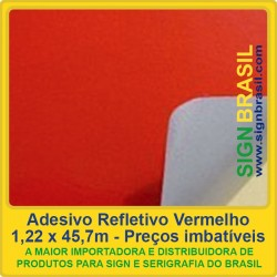 Adesivo refletivo Vermelho - para serigrafia