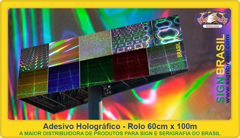 Adesivo holográfico Sign Brasil
