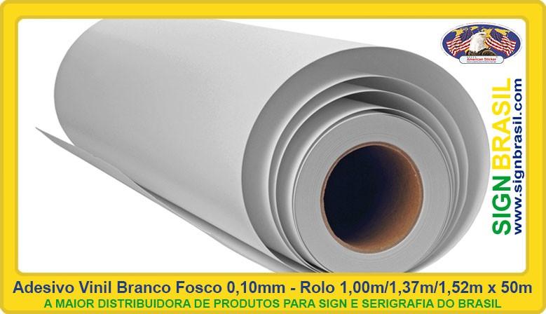 Vinil Adesivo Branco Fosco Sign Brasil