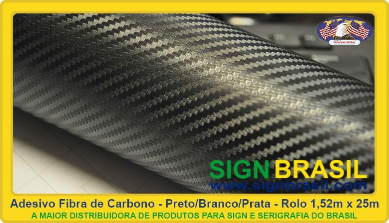 Adesivo fibra de carbono Sign Brasil