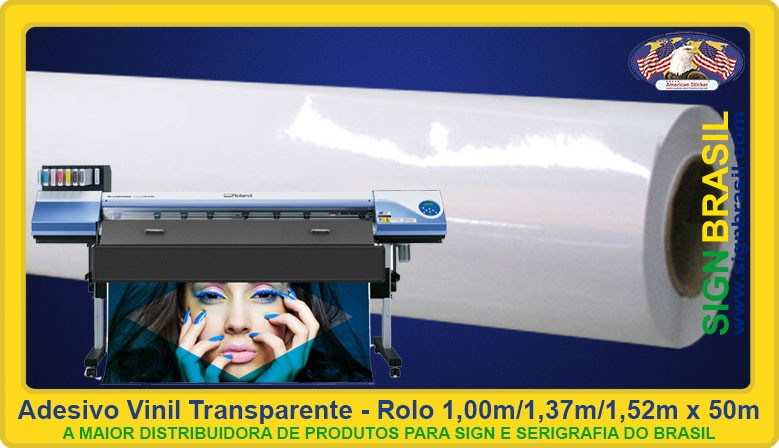 Adesivo vinil transparente Sign Brasil