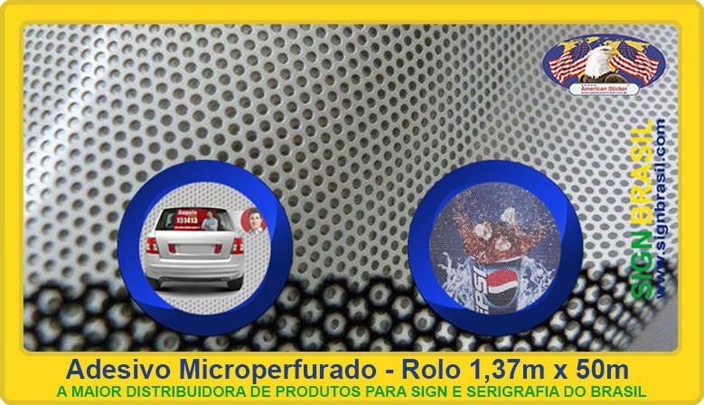 Adesivo microperfurado Sign Brasil