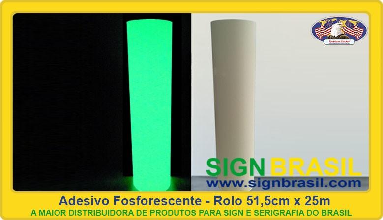 Adesivo fosforescente Sign Brasil
